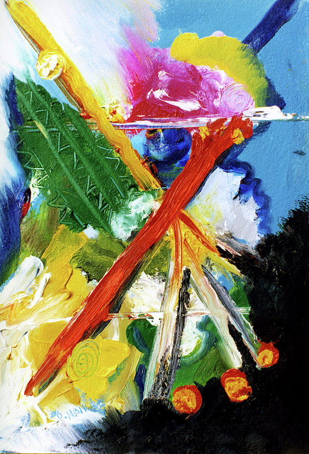 Abstract Painting Painting - New Island #137 by Donald k Hall