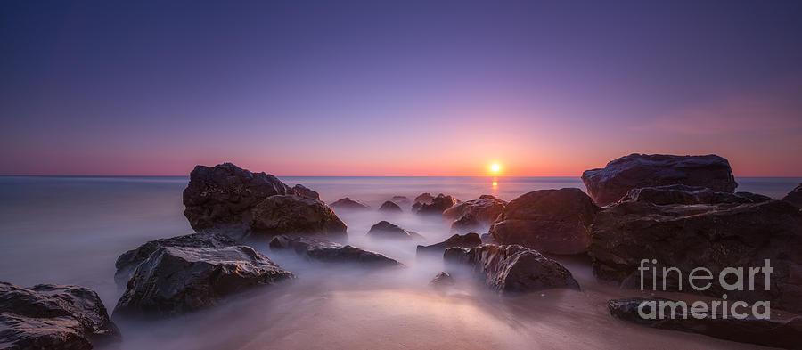 Sea Girt Photograph - New Jersey Sunrise At Sea Girt by Michael Ver Sprill