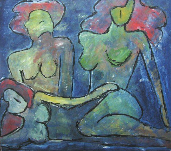 Expressionism Painting - New Ladies by Marcia Pinho
