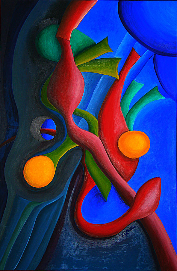 Abstract Painting - New Life Form by Michael C Crane