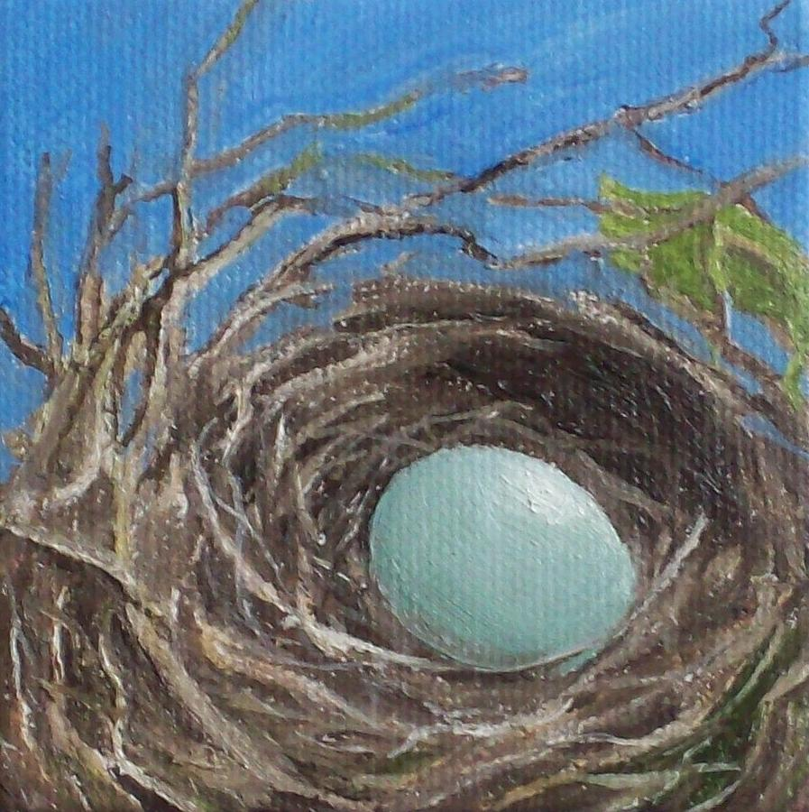 Bird's Nest Painting - New Life by Irene Corey