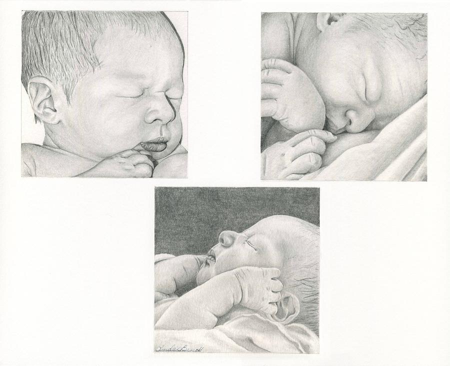 Baby Drawing - New Life by Linda Bissett