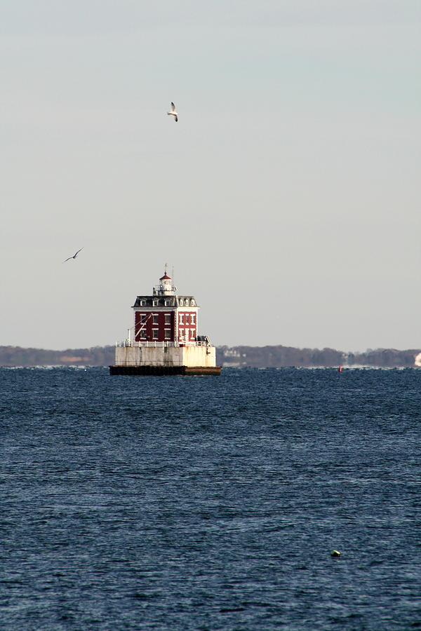 Landscape Photograph - New London Lighthouse by Gerald Mitchell