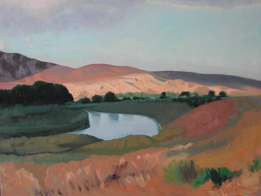 New Mexico Landscape Painting - New Mexico Morning by Eva Wittlinger