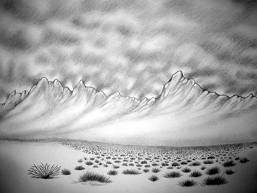 New Mexico passage Drawing by Marco Morales