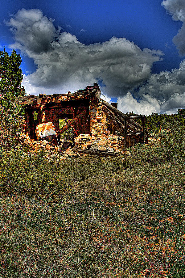 New Mexico Photograph - New Mexico Shack by David Patterson