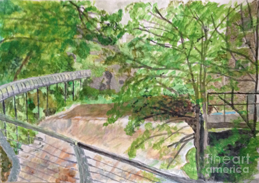 New Mills in its Natural Beauty Painting by Sawako Utsumi