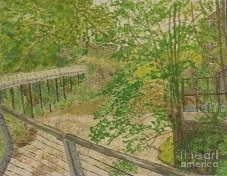 Landscape Painting - New Mills And Reflection Of Spring by Sawako Utsumi