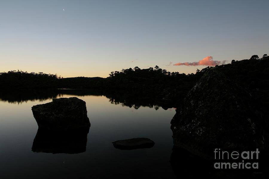 New Moon on the Tarns - Tasmania Australia by Julian Wicksteed