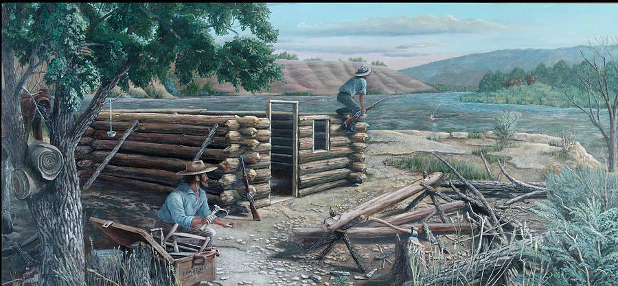 Pioneers Painting - New Neighbors by Lee Bowerman