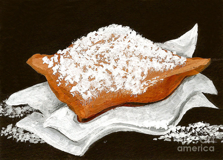 New Orleans Painting - New Orleans Beignet by Elaine Hodges