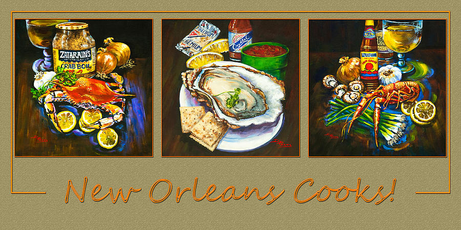 New Orleans Seafood Painting - New Orleans Cooks by Dianne Parks