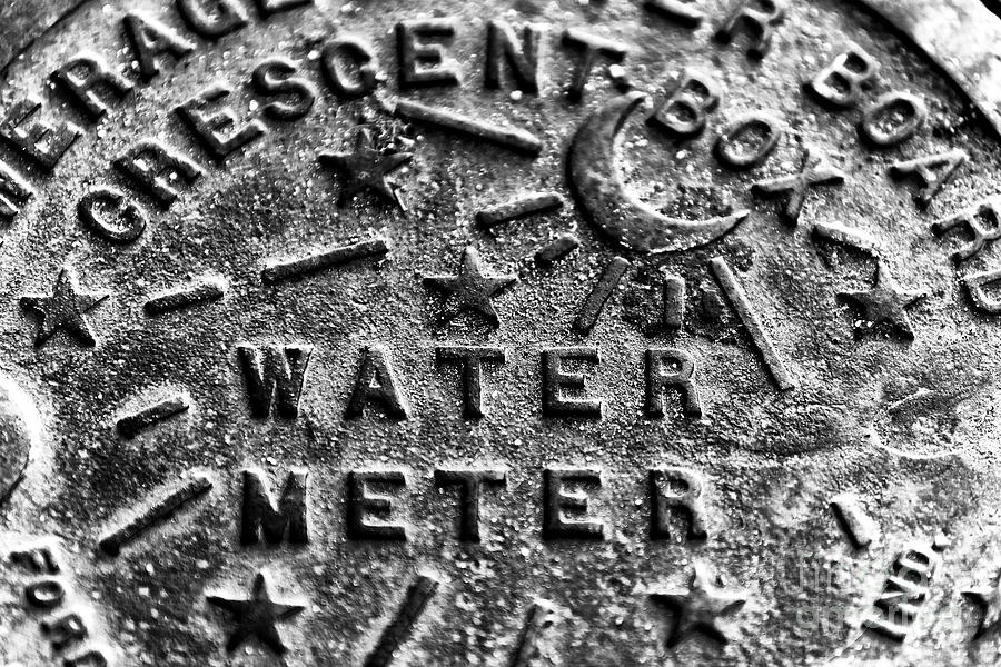 Water Meter Photograph - New Orleans Crescent Box Water Meter by John Rizzuto