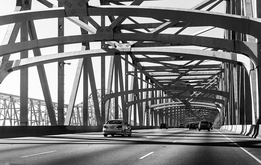 New Photograph - New Orleans Crescent City Connection Bridge by Sunman Studios