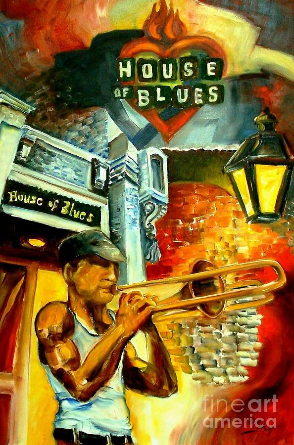 New Orleans Painting - New Orleans House Of Blues by Diane Millsap
