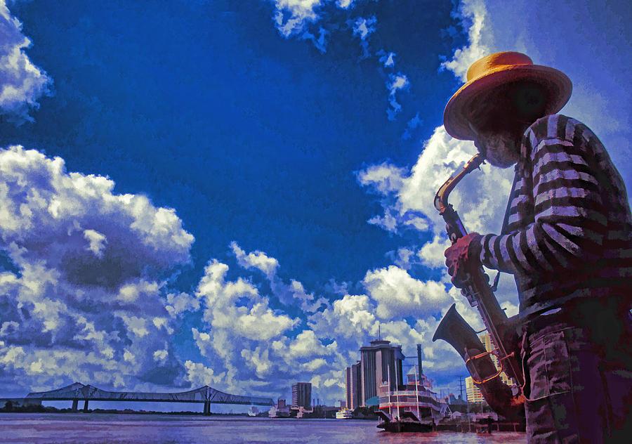 Usa Photograph - New Orleans Jazzman by Dennis Cox