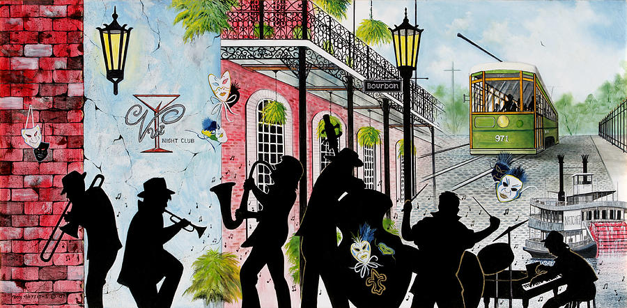 City Painting - New Orleans Magic by Don Griffiths