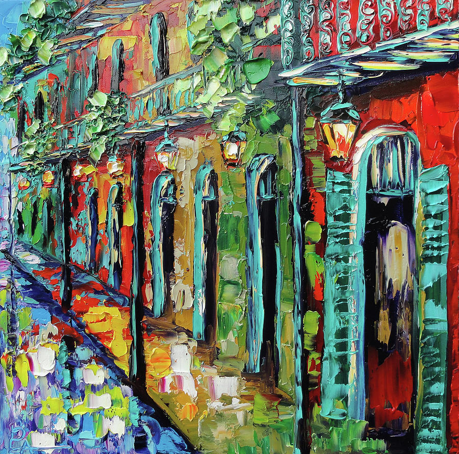 New Painting - New Orleans Painting - Glowing Lanterns by Beata Sasik