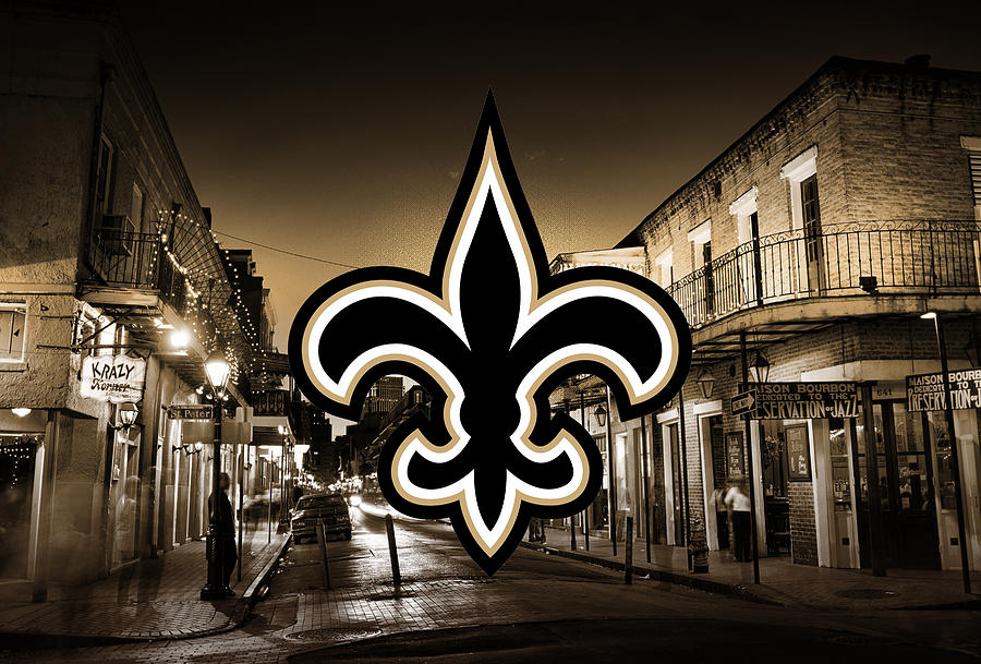 New Orleans Saints Artwork Digital Art by Nicholas Legault