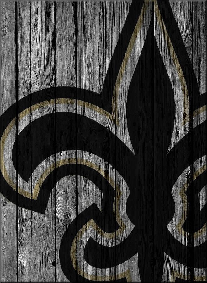 New Orleans Saints Wood Fence Photograph By Joe Hamilton