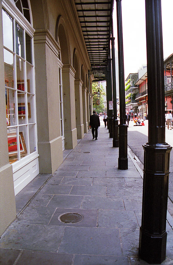 America Photograph - New Orleans Sidewalk 2004 by Frank Romeo