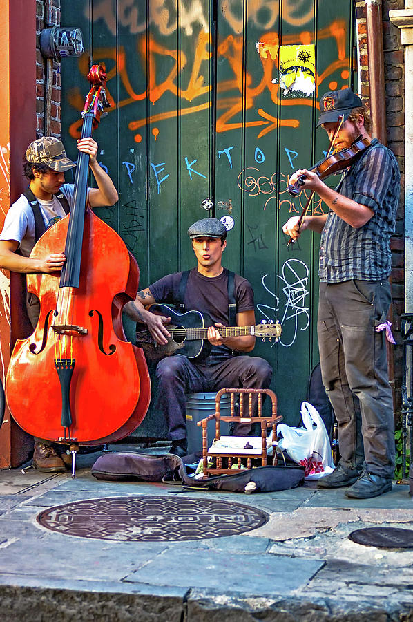 French Quarter Photograph - New Orleans Street Musicians by Steve Harrington