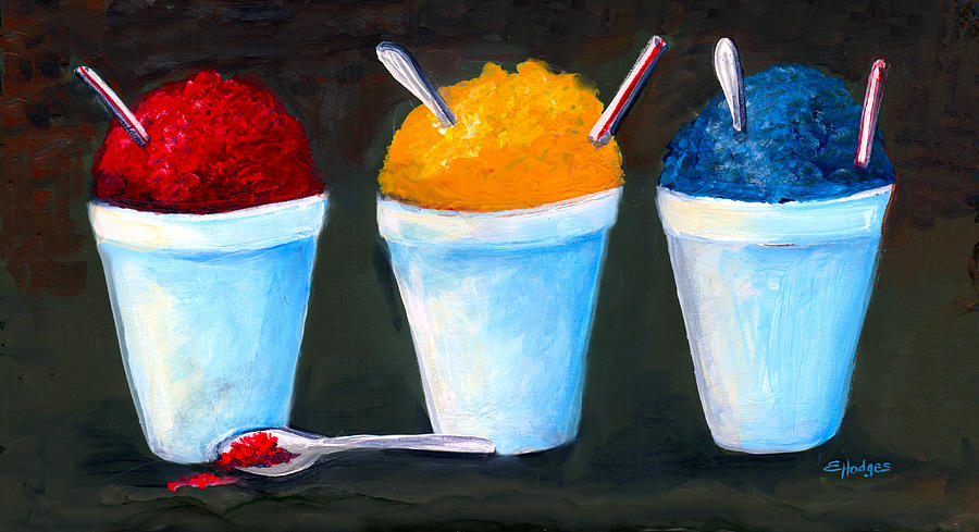 New Orleans Style Snowballs Painting by Elaine Hodges