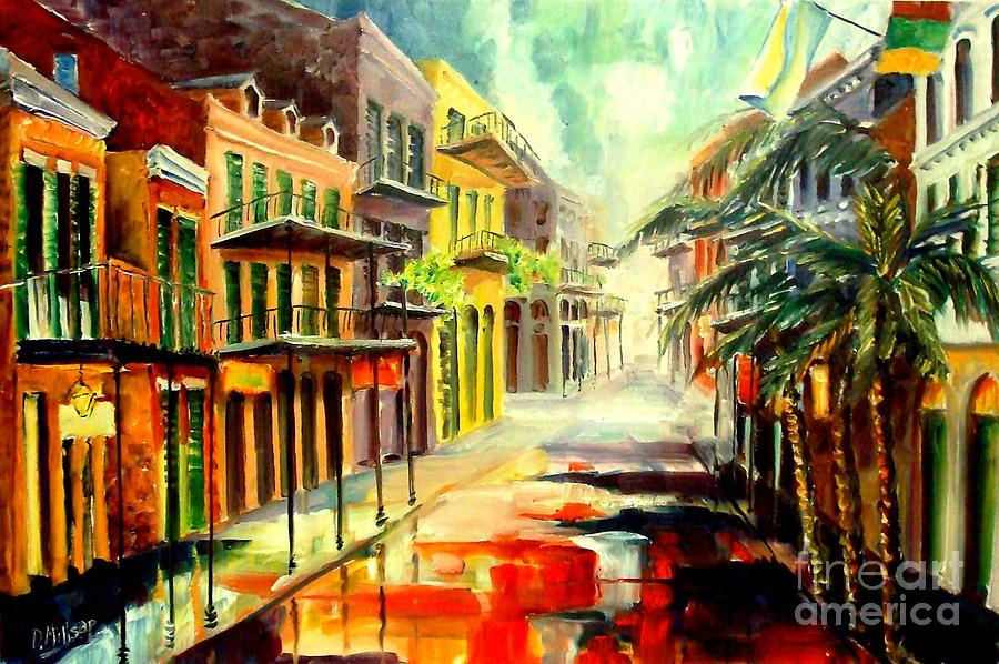 New Orleans Painting - New Orleans Summer Rain by Diane Millsap