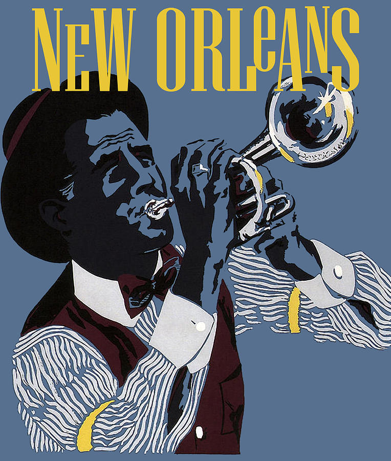 New Orleans Painting - New Orleans, Trumpeter by Long Shot