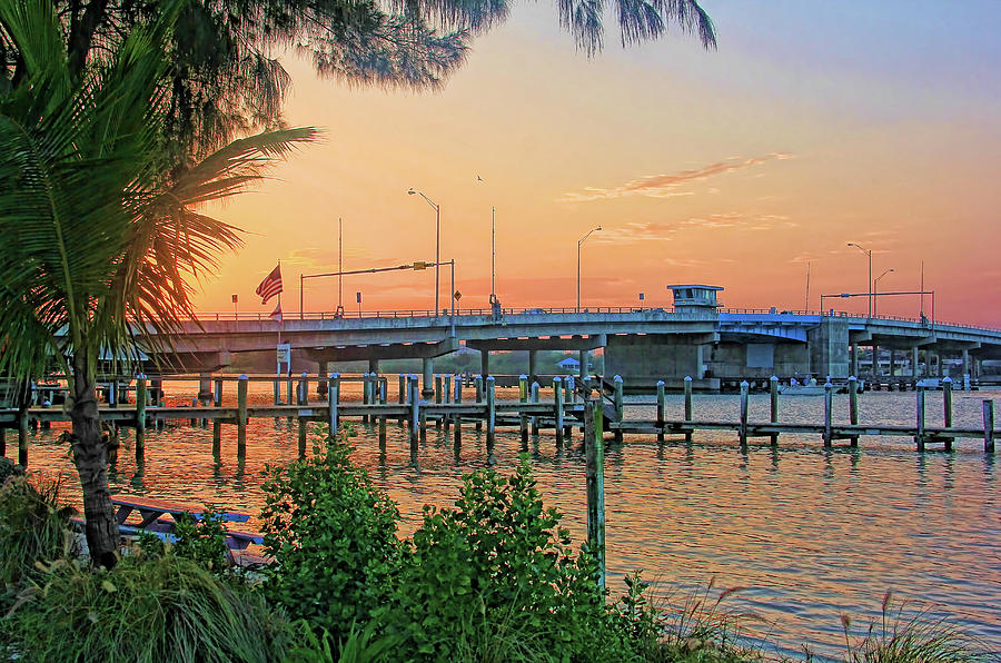 Bridge Photograph - New Pass Bridge 2 by HH Photography of Florida