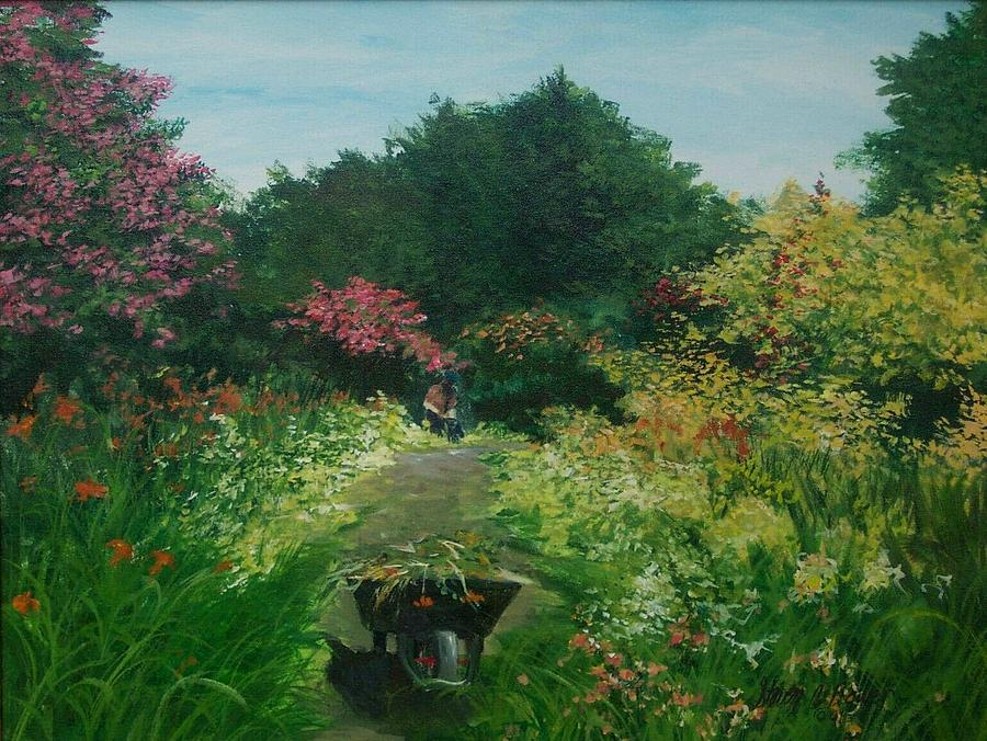 New Path Giverny Painting by Steven Bower