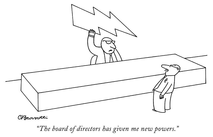 New powers Drawing by Charles Barsotti