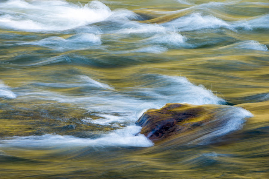 New River Abstract New River Gorge by Rick Dunnuck