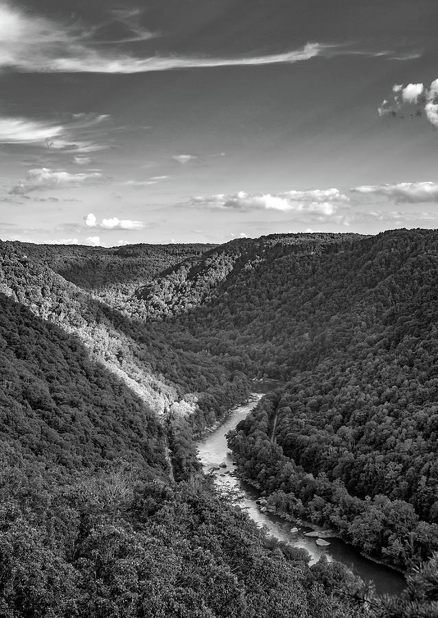 New River, West Virginia 4 Bw Photograph