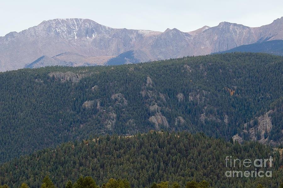 New Snow On Pikes Peak Colorado Photograph