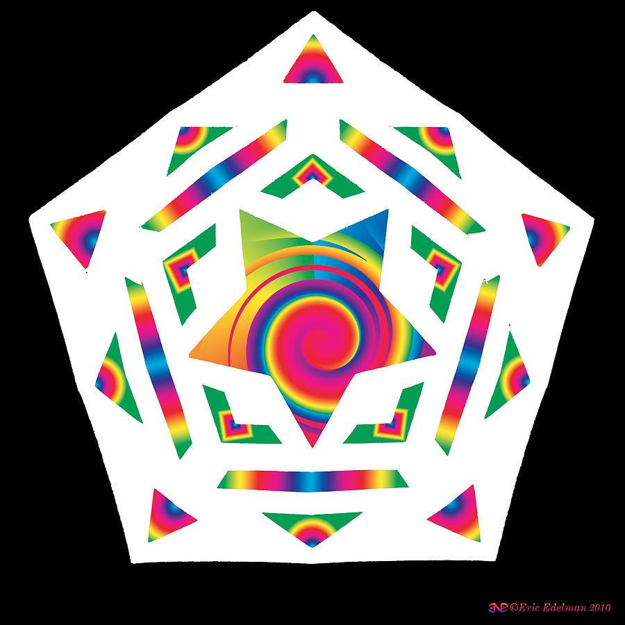 Pentacle Digital Art - New Star 2a by Eric Edelman
