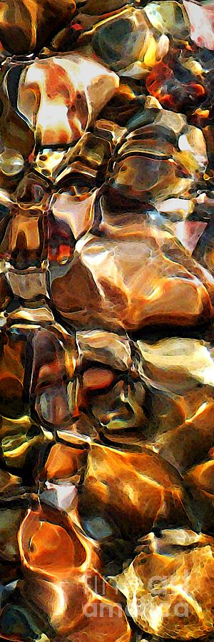 Abstract Photograph - New Textures Of A Streambed by Terril Heilman