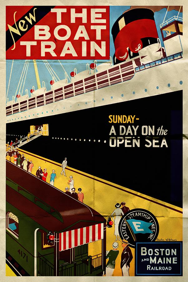 New The Boat Train - Folded by Vintage Advertising Posters