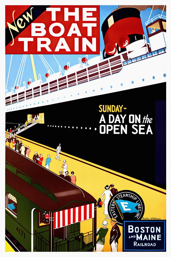 New The Boat Train - Restored by Vintage Advertising Posters