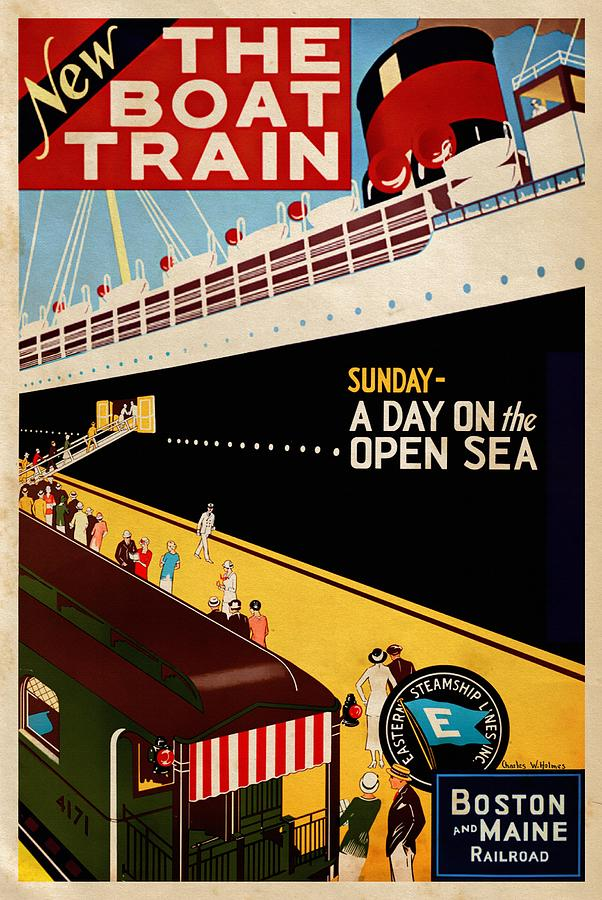 New The Boat Train - Vintagelized by Vintage Advertising Posters