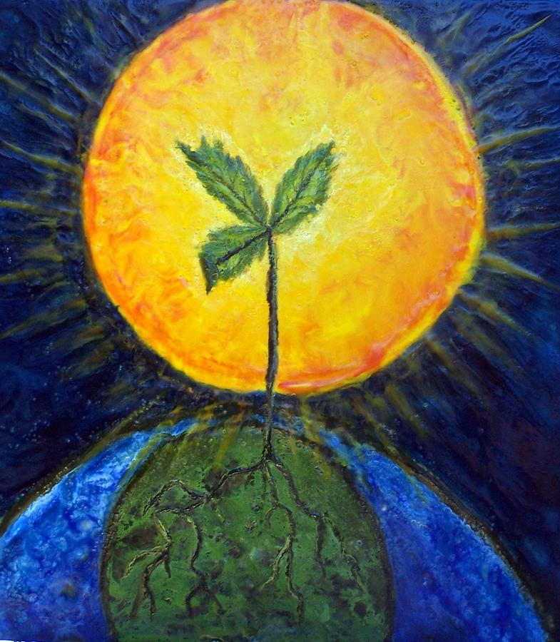 Sun Painting - New Thought by Karla Phlypo-Price
