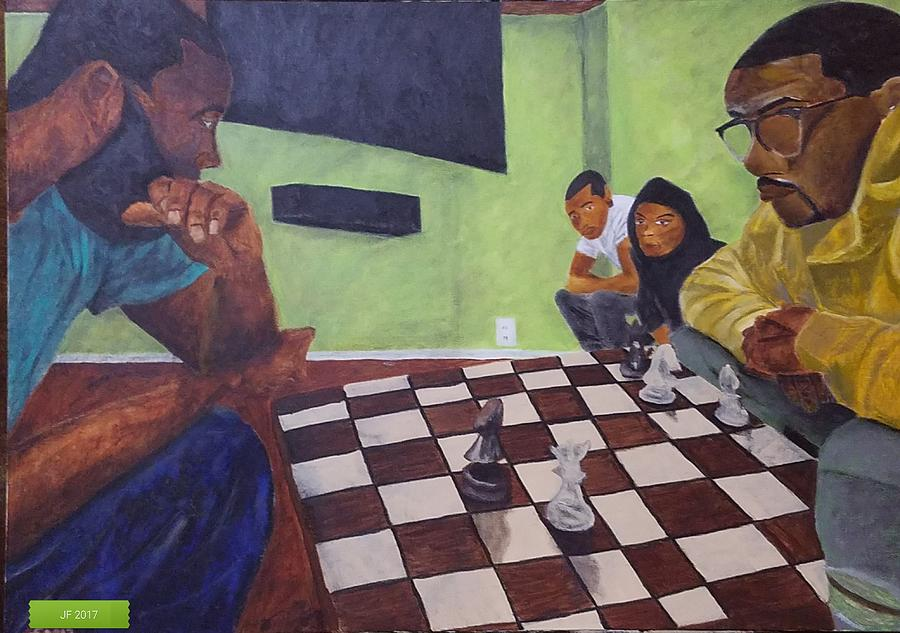 Chess Painting - A Game Of Chess by Jerel Ferguson