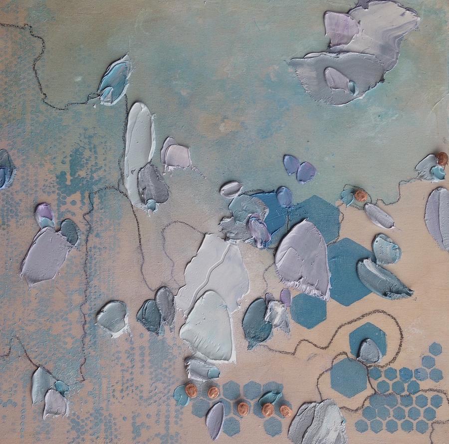 Blue Philosophy Painting by Sande Waters