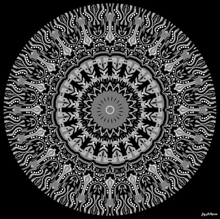Digital Digital Art - New Vision Black And White by Joy McKenzie