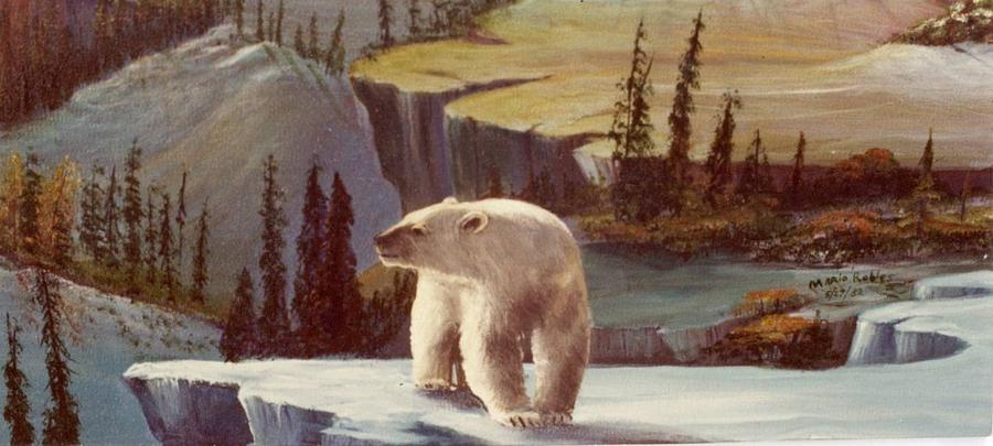 Bears Painting - New Worlds by Mario Robles