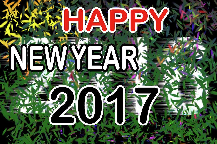Happy Digital Art - New Year by Dani Awaludin