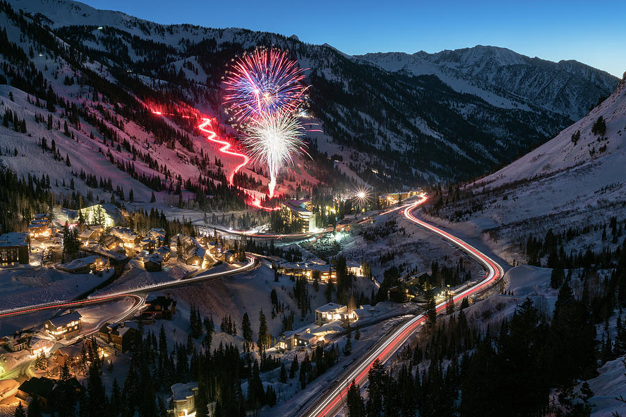 Utah Photograph - New Years Eve At Snowbird by James Udall