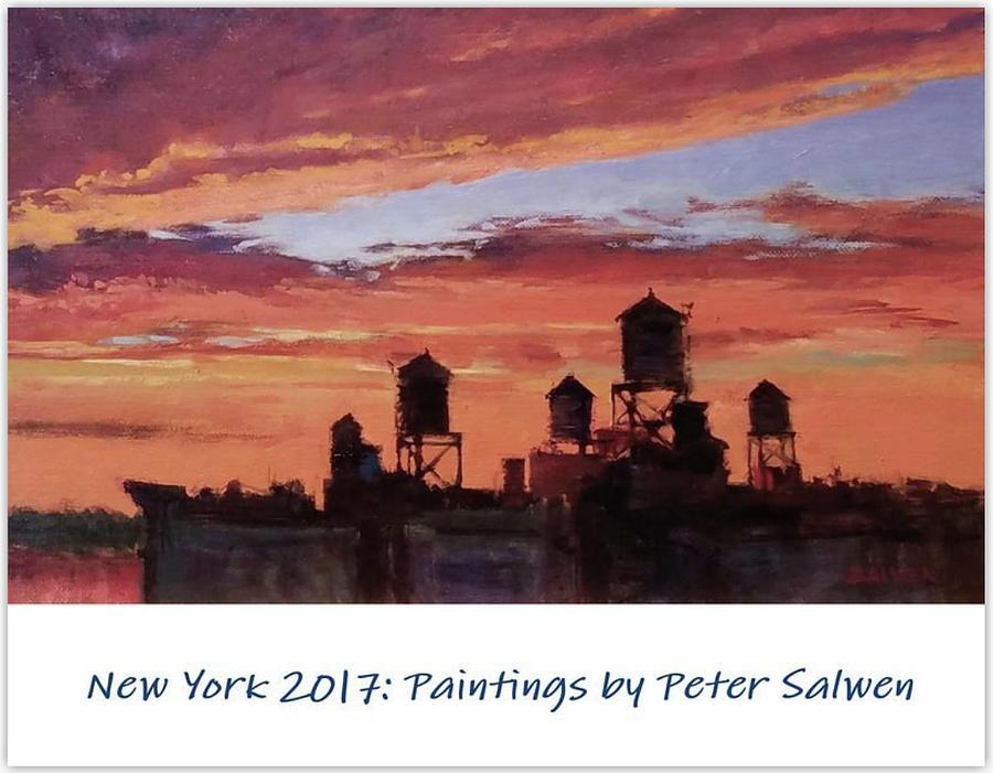 Calendar Painting - New York 2017 by Peter Salwen