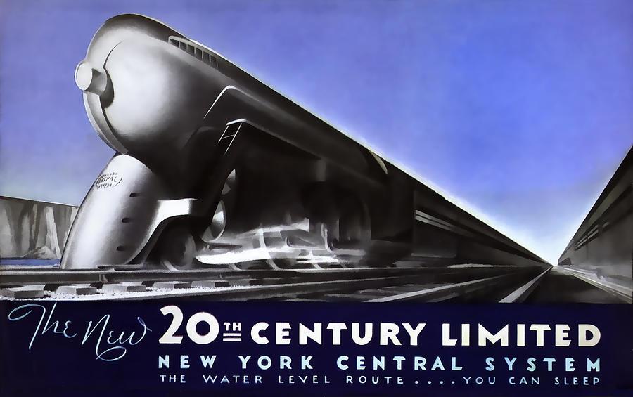New York Photograph - New York 20th Century Limited Train  1938 by Daniel Hagerman