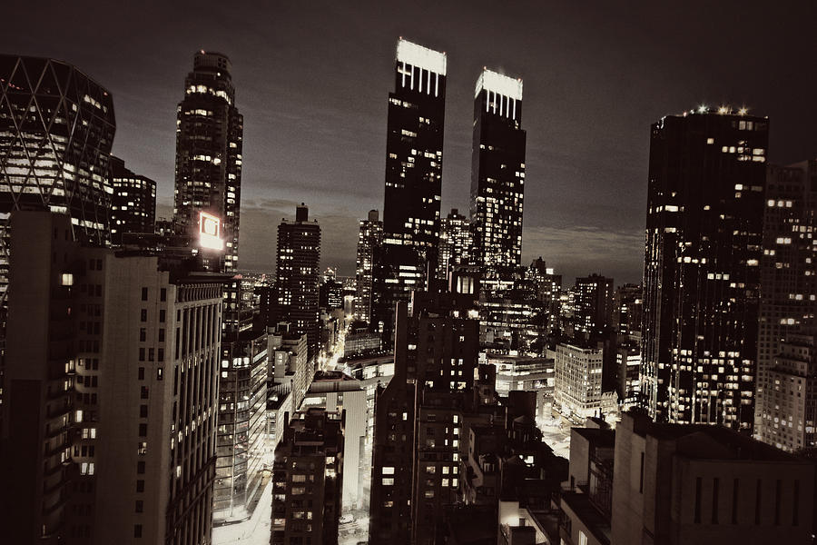 City Photograph - New York After Dark by Ariane Moshayedi